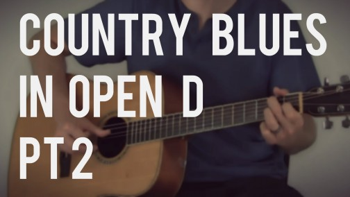 Country Blues Picking for the G Chord in Open D | TB108
